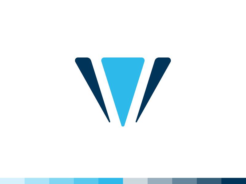 V + Diamond Logo Design v web logo template branding blue logo icon design illustrator photoshop typography designer logomark logotype graphic illustration shapes simple dribbble vector