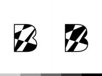 """B"" Shapes Logo Design"