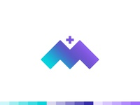 """M"" Medical Logo Design"