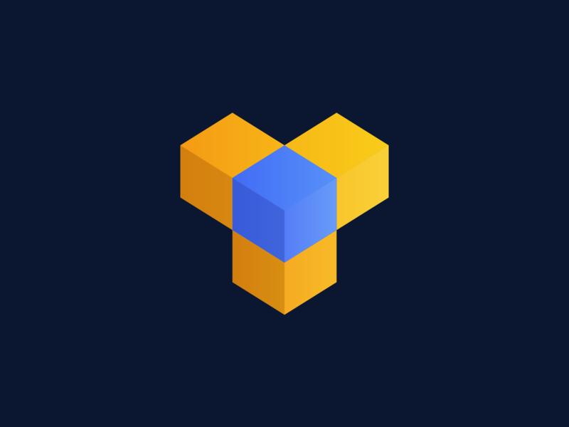"""Y"" Isometric Logo Design vector dribbble simple shapes illustration graphic logotype logomark designer photoshop illustrator design icon logo branding web y blue linux gradient"