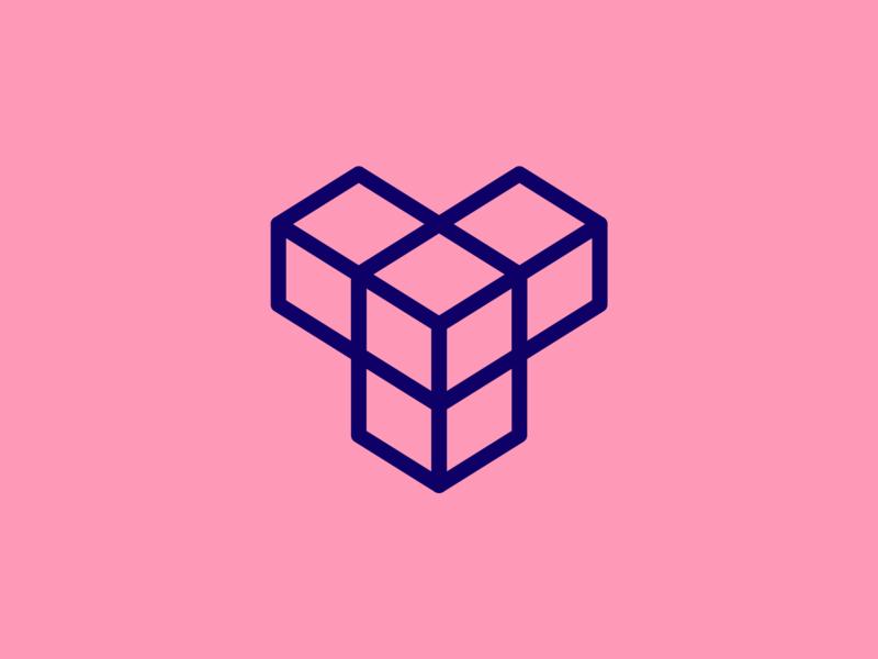"""Y"" Isometric Logo Design Stroke Version symbol pink stroke linux y web branding logo icon design illustrator photoshop designer logomark logotype graphic shapes simple dribbble vector"