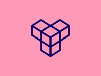 """Y"" Isometric Logo Design Stroke Version"