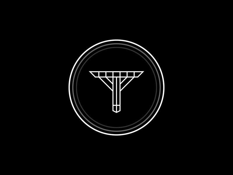 """T"" Logo Design logodesigns modern badge vintage logodesign black white circles t shapes illustration simple dribbble typography graphic logo designer photoshop illustrator design"
