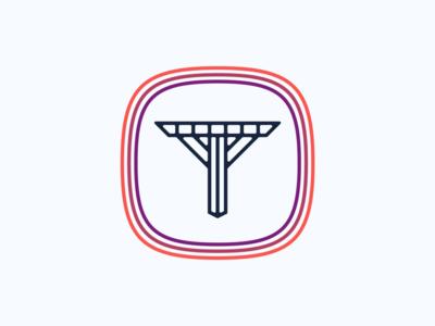 """""""T"""" Logo Design in Color t shapes logodesigns digital symbol modern logo app badge vintage modern illustration simple dribbble typography graphic logo designer photoshop illustrator design"""