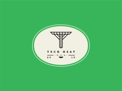 """T"" Logo Design in Color"