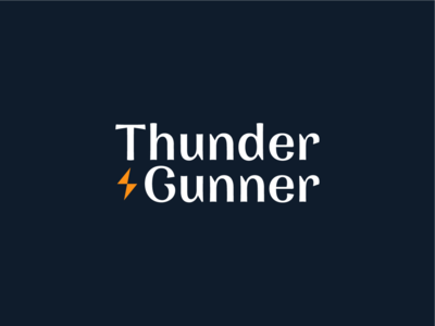"""Thunder & Gunner"" Logo Design company ux ui blue orange logotype bolt light gunner thunder illustration simple dribbble typography graphic logo designer photoshop illustrator design"