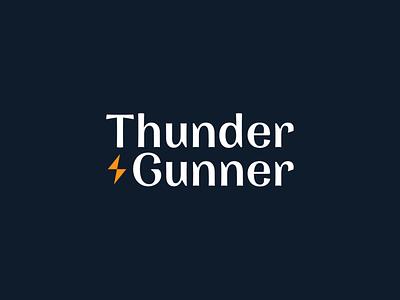 """""""Thunder & Gunner"""" Logo Design company ux ui blue orange logotype bolt light gunner thunder illustration simple dribbble typography graphic logo designer photoshop illustrator design"""