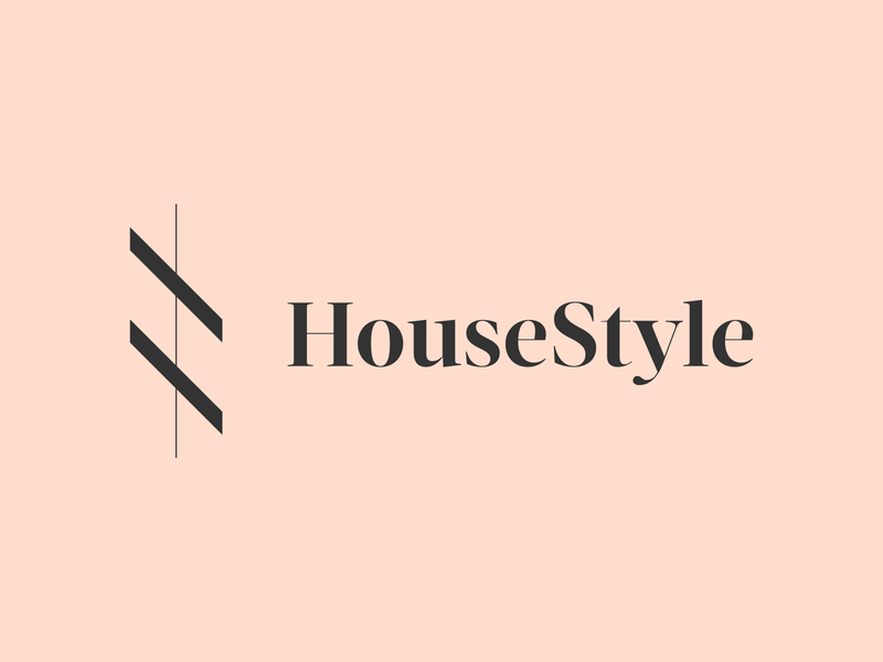 """HouseStyle"" Logo Design green pink home h homes house colors soft beautiful elegant logomark ui illustration typography graphic logo designer photoshop illustrator design"