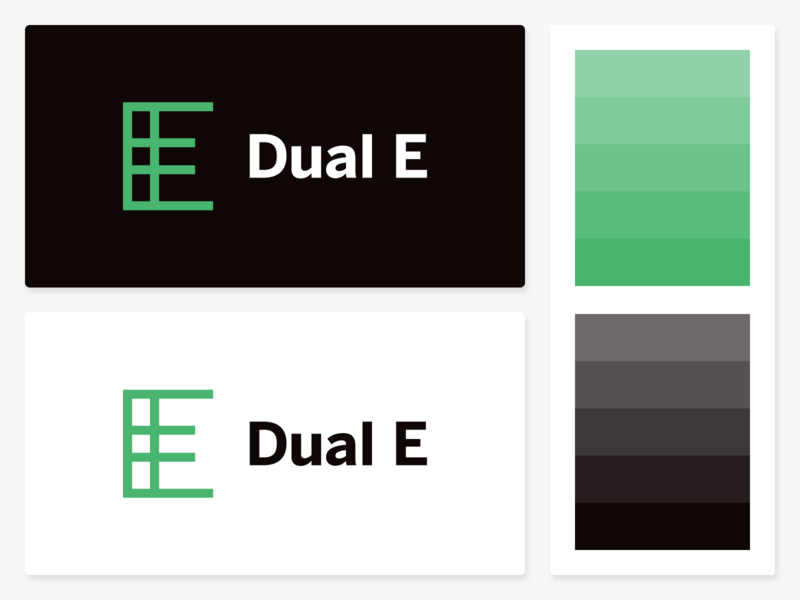 """Dual E"" Logo Concept vintage black green mark concept simple logo double dual e shapes illustration simple dribbble typography graphic logo designer photoshop illustrator design"