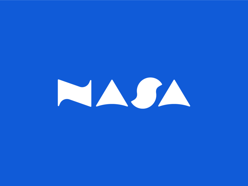 """NASA"" Logotype Concept Design blue cosmos spacedchallenge spaced spaceship astronaut spaceman simple dribbble typography graphic logo designer photoshop illustrator design concept logotype space nasa"