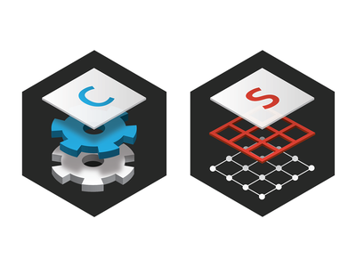 Configurator and Studio layer shape 3d icons