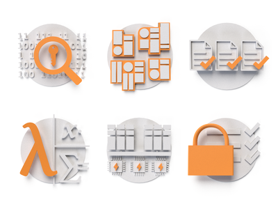 Brochure Icons print illustration icons 3d