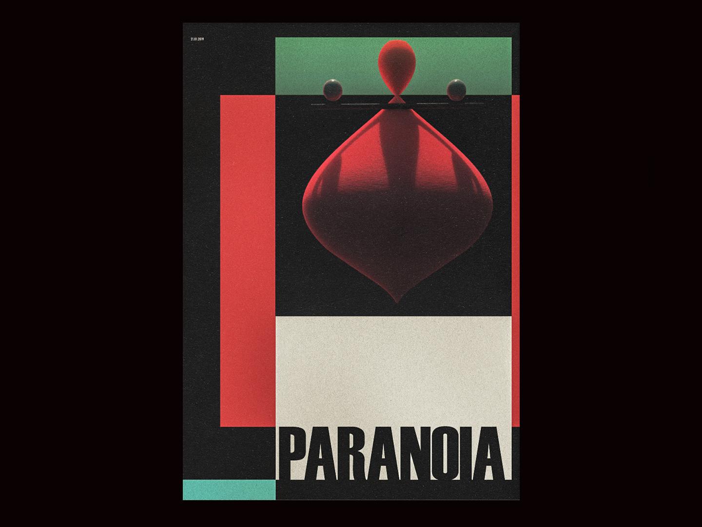 Paranoia design contemporary 3d surrealism poster