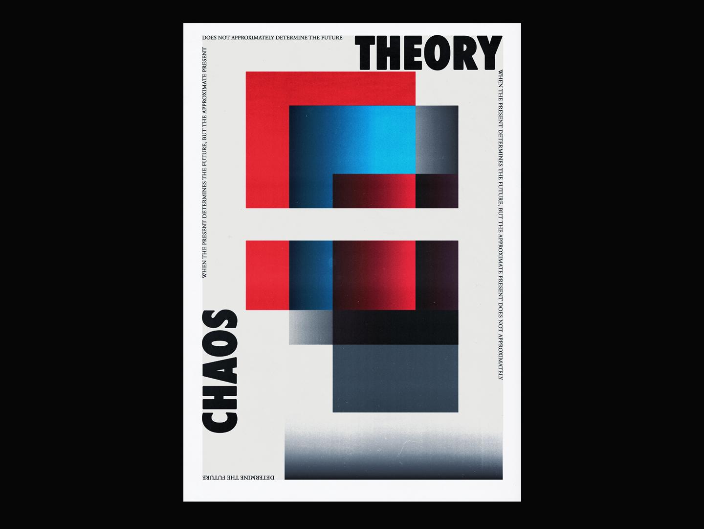 Chaos theory abstract vector contemporary minimal illustrator poster