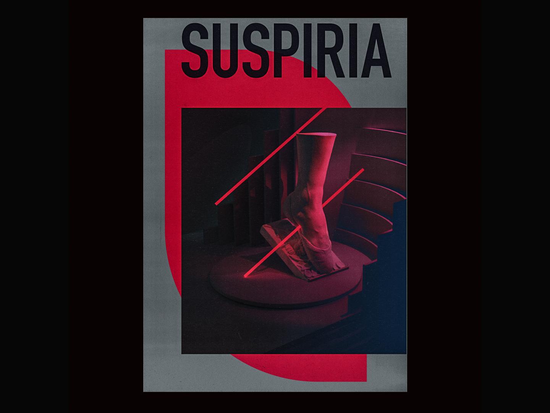 Suspiria surrealism contemporary minimalist graphicdesgn graphic tribute film poster