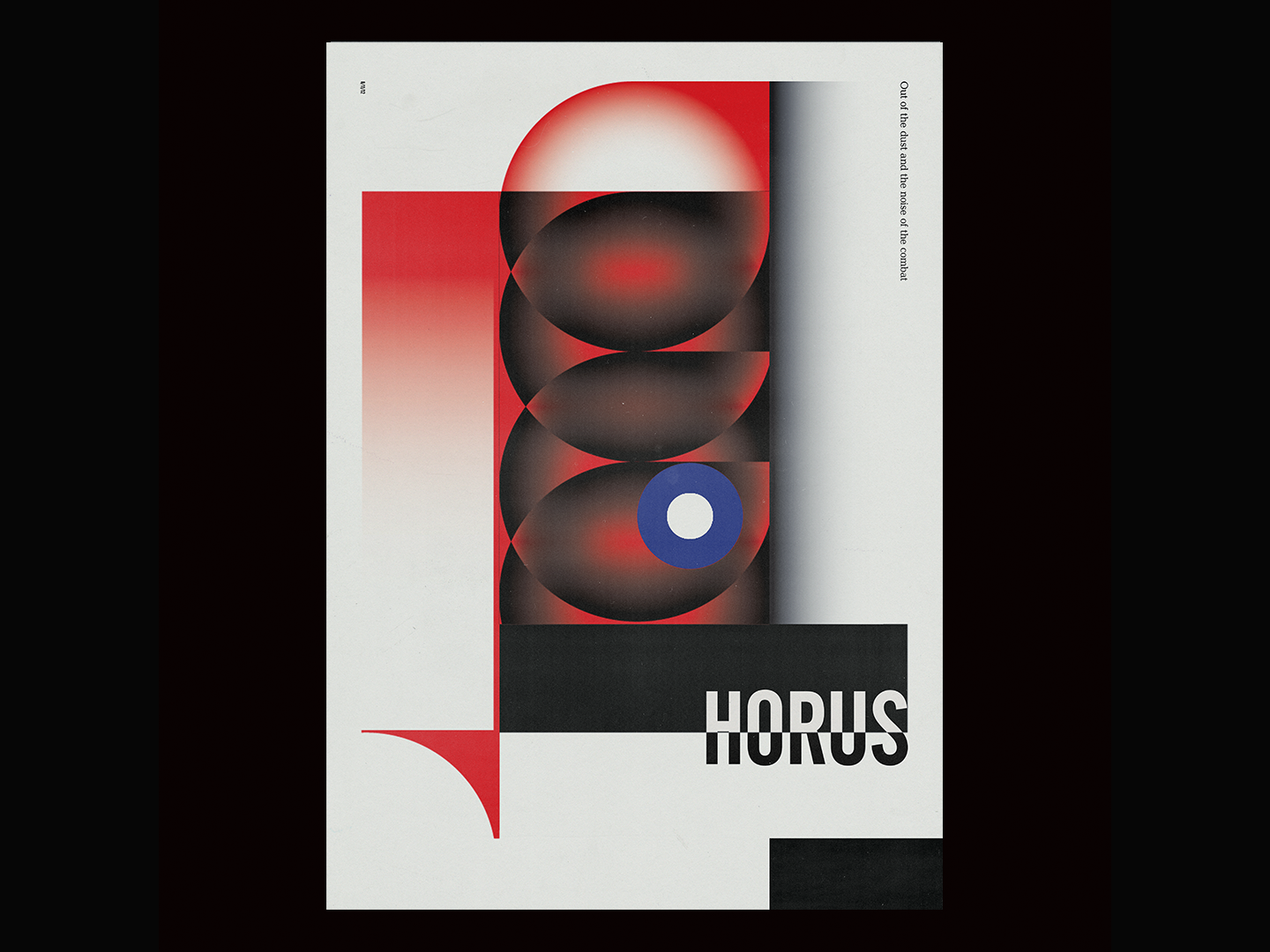 Horus surrealist contemporary graphicdesign graphic poster a day poster