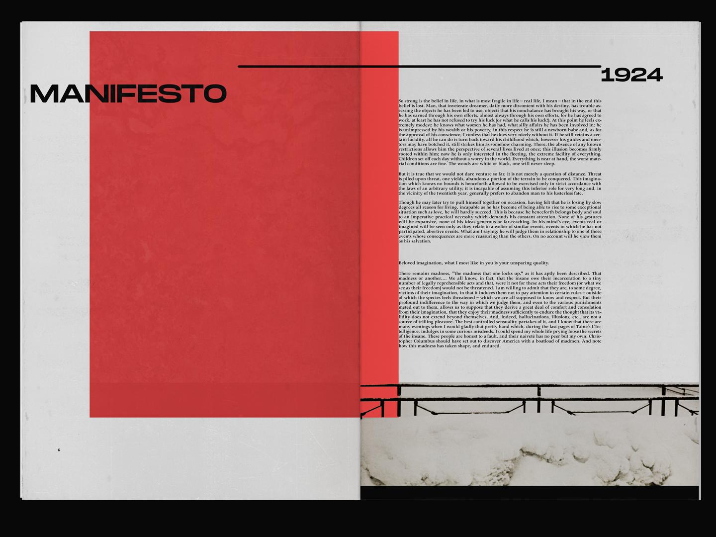 manifesto experimental spread editorial design layout editorial layout graphicdesign graphic design editorial