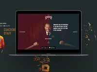 Sports Parallax Landing Page - Row the Boat