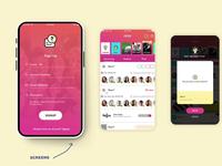 App Design - QSTN app screen