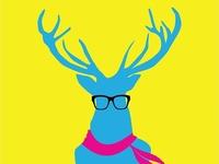 Hipster Elk Needs Coffee