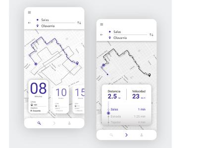 Prototipo de app para transporte público