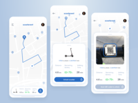 Scooter Rent iOS App Concept