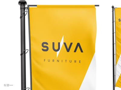 SUVA mockup typography icon branding logo design logotype logo