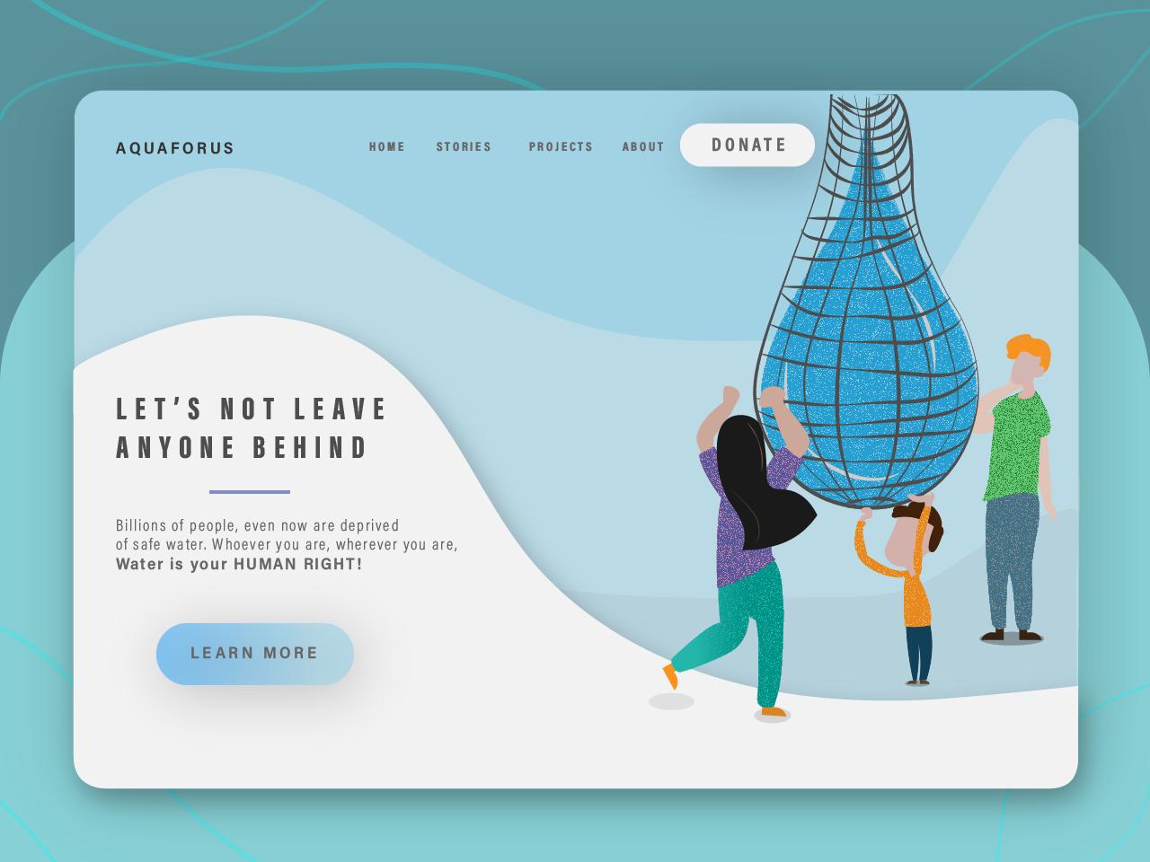 Landing Page - Interface & Illustration ui design ux design ux minimal vector interfacedesign ui landing page design landingpage design illustration