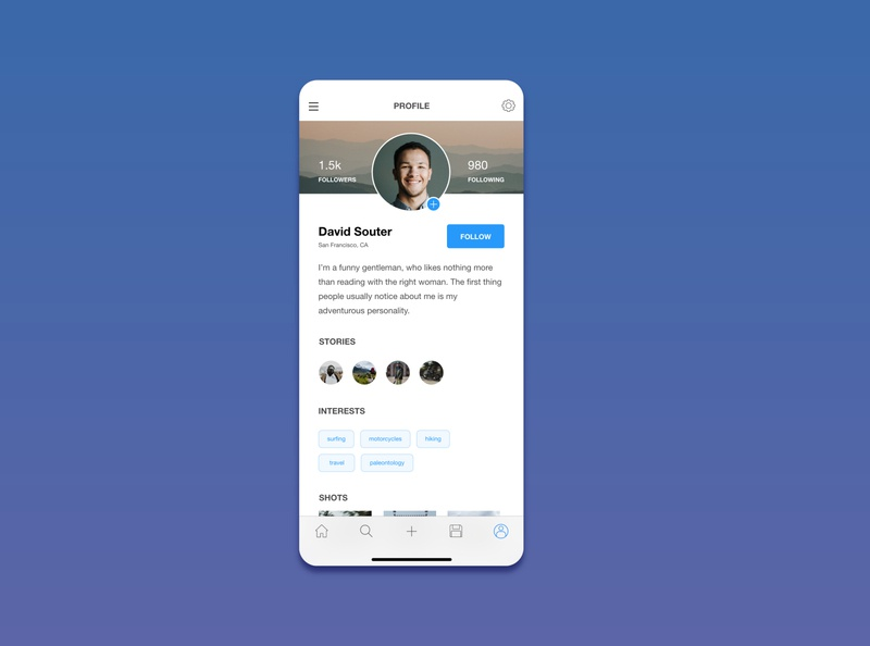 UI Daily Challenge Day 6 - User Profile
