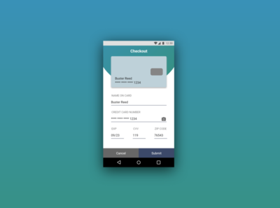 DailyUI #002 Checkout Screen