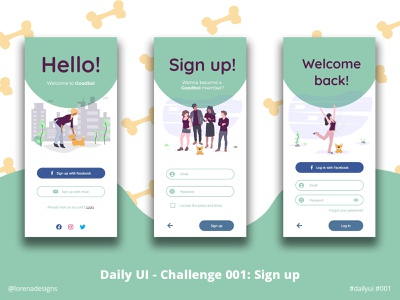 Daily UI - Challenge 001: Sign up app ux ui 001 dailyui dailyuichallenge