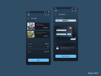 Daily UI Design Challenge #002 - Credit Card Checkout ux ui dailyuichallenge dailyui app