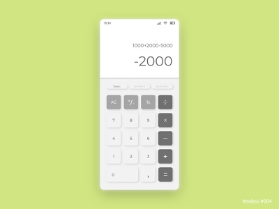 Daily UI Design Challenge #004 - Calculator app calculator ux ui dailyui dailyuichallenge