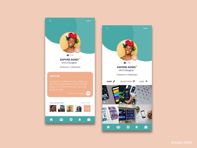 Daily UI Design Challenge #006 - User profile user profile app ux ui dailyuichallenge dailyui