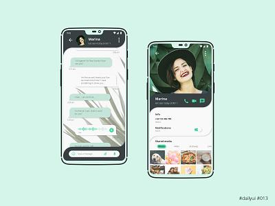 Daily UI Design Challenge #013 - Direct Messaging interface mobile app profile messaging message app ux ui dailyuichallenge dailyui