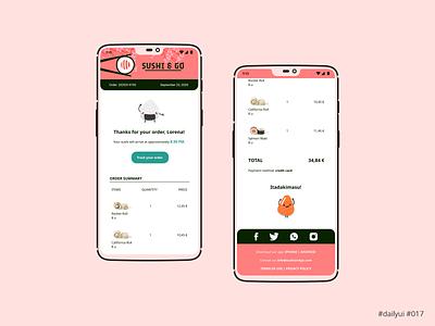 Daily UI Design Challenge #017 - Email Receipt delivery sushi receipt email ux ui dailyuichallenge dailyui