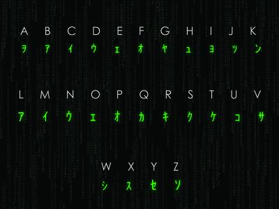 Matrix typeface