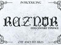 REZNOR, a Blackletter Typeface