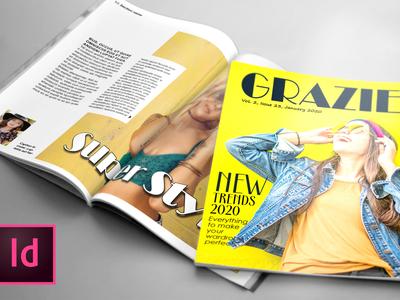 GRAZIE, Fashion Magazine Template