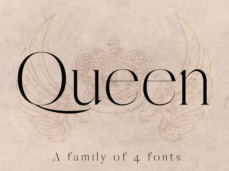 QUEEN: A Modern Serif Font elegant modern typeface designer typeface design typefaces typeface font awesome font family font design fonts font easy to use graphic design