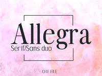 ALLEGRA: An Elegant Font Duo