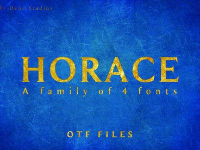 HORACE: A Strong Serif Type