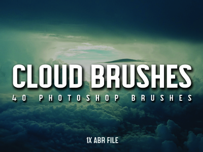 40 Cloud Brushes for Photoshop