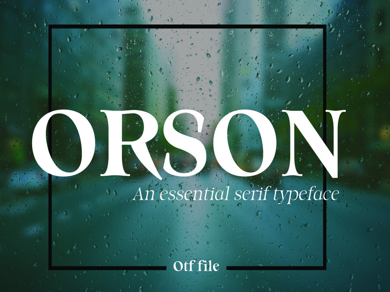 ORSON: An Essential Serif Typeface essential orson typeface. lettering typeface designer typeface design type design typography typo type typefaces typeface font awesome font family font design fonts fony font easy to use graphic design design