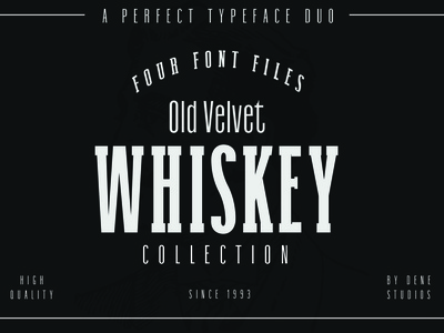 OLD VELVET: A Font Duo Collection