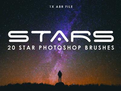 20 Star Photoshop Brushes