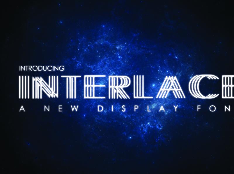 INTERLACE- A Unique Display Font design graphic design lines symbolset symbols cosmos display unique cosmos symbol universe space future futuristic typeface futuristic futuristic font typeface font