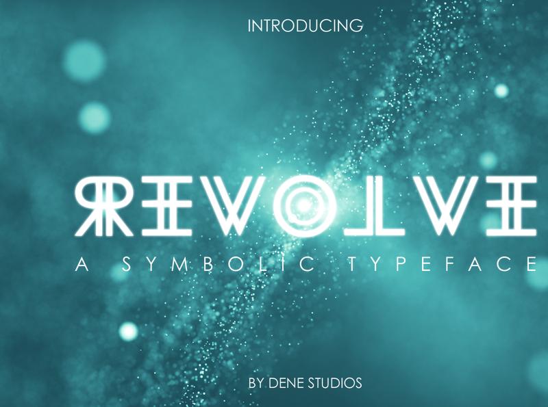 REVOLVE - A Symbolic Typeface revolve reverse display new symbol style futuristic future graphic design design typeface font