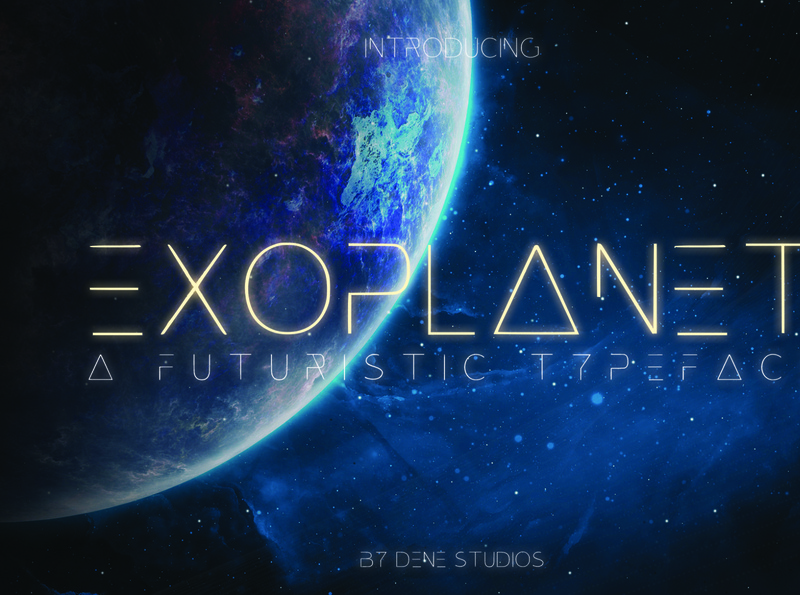 EXOPLANET - A Futuristic Typeface space font space futuristic font futuristic modern design modern font typeface graphic design design