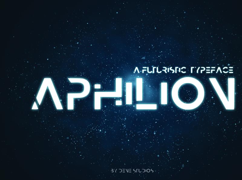 APHILION - A Futuristic Typeface future creative font creative sapce font space futuristic typeface futuristic font futuristic typeface font graphic design design